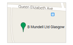 B Mundell Haulage and Parcel Service glasgow map