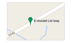 B Mundell Haulage and Parcel islay map